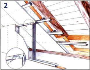 Мансардный потолок из гипсокартона своими руками